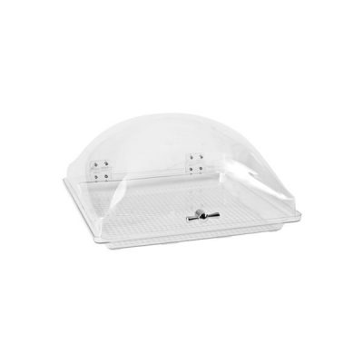 Display Dome Cover with Fixed Polycarbonate Tray 350x350mm