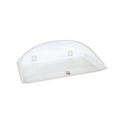 Display Dome Cover with Fixed Polycarbonate Tray 550x350mm