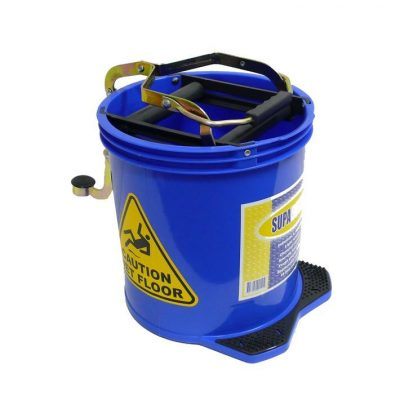 Mop Bucket with Foot Pedal Wringer 16Ltr Blue