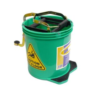 Mop Bucket with Foot Pedal Wringer 16Ltr Green