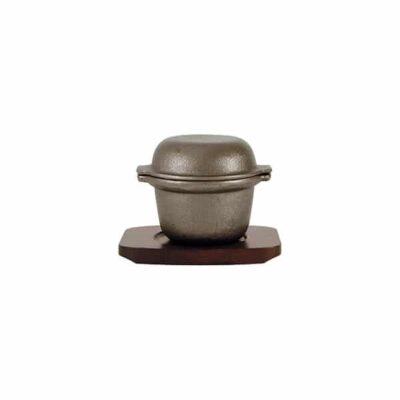 Cast-Iron-Garlic-Prawn-Pot-with-Wooden-Base-115x90mm-41041
