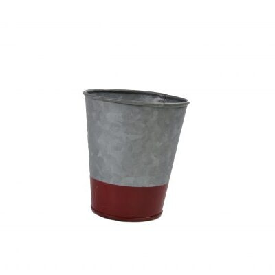 Chef-Inox-Coney-Island-Galvanised-Pot-Flared-Dipped-Red-100mmx95mm-78632