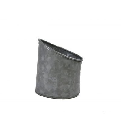 Chef Inox Coney Island Galvanised Pot Slant 105X115mm-78615
