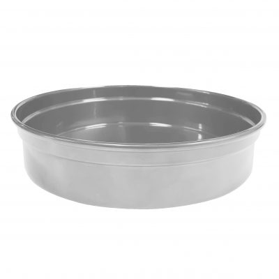 Chef-Inox-Drinks-Service-Tray-Aluminum-Round-Silver-240mmD-x-50mmH-04200-SLV