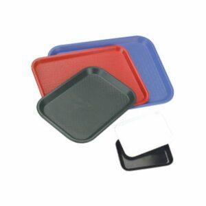 Chef-Inox-Fast-Food-Service-Tray-Polypropylene-Black-350-x-450mm-06986-BK