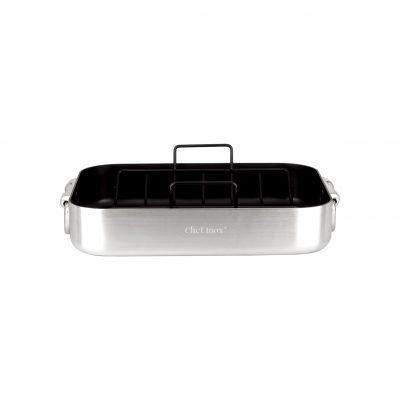Chef-Inox-Roast-Pan-Drop-Handle-360x270x80mm-61634