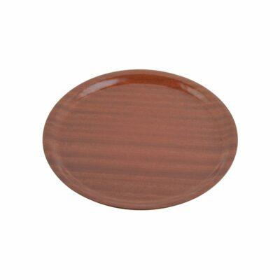 Chef-Inox-Service-Tray-Laminated-Mahogany-Round-330mmD-04230