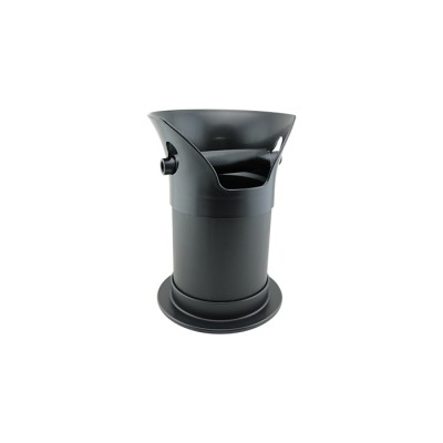 Coffee-Knock-Tube-300mm-Black-with-Removable-Top-Free-Standing-THUMPA300