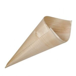 Cone-Servingware-Pine-Wood-180mm-50pcs-47718