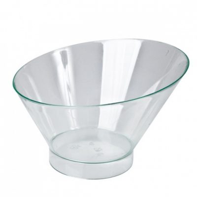 Disposable-Cover-to-suit-Slant-Round-Dish-Clear-195ml-55mmx108mmx75mm-100pcs-47013-C
