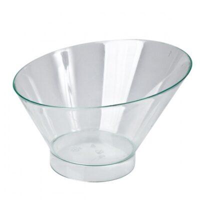 Disposable-Slant-Round-Dish-Clear-195ml-55mmx108mmx75mm-10pcs-47013