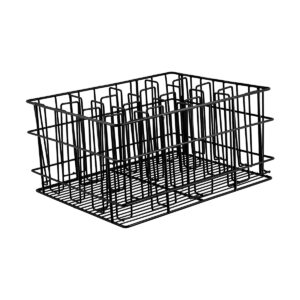 Glass-Basket-PVC-Black-430x355x215mm/-105-x-75mm-16-Compartment-30916B