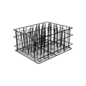 Glass-Basket-PVC-Black-430x355x215mm-/-80x80mm-20-Compartment-30920