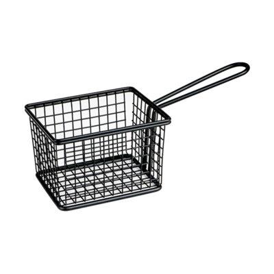 Moda-Service-Basket-Square-Rectangular-Matt-Black-224x100x80-73822-BK