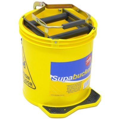 Mop-Bucket-with-Foot-Pedal-Wringer-16Litre-Yellow-MBY
