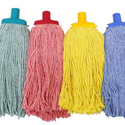 Mop-Cotton-Solid-Colour-400g-Green-suits-handle-MHPC-G