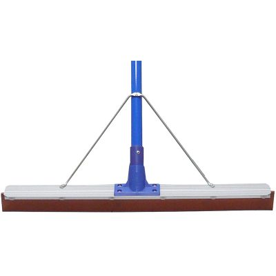 Reinfored-Aluminium-Rubber-Floor-Squeegee-Blue-with-Handle-45cm-x-1.45m-RAB18B-H