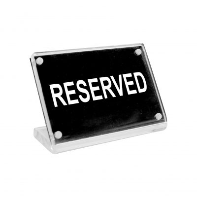 Reserved' Buffet Sign Acrylic w Magnet Plate-81300