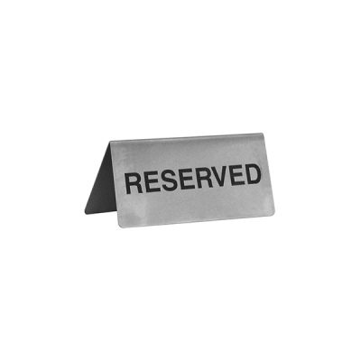 Reserved Sign A Frame 18/10 Stainless Steel-57800