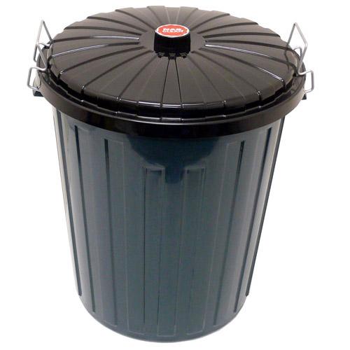 Rubbish-Bin-75L-Green-with-Flat-Black-Lid