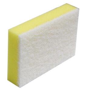 Scourer-Sponge-Commercial-White-&-Yellow-150-x-100mm-NBSSW