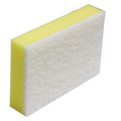 Scourer-Sponge-Commercial-White-&-Yellow-150-x-100mm-NBSSW
