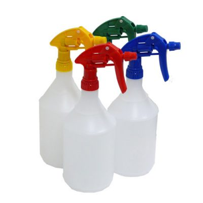 Spray Bottle 1Litre Yellow Nozzle-NB71-Y