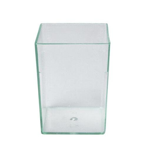 Square-Tall-Rectanglar-Dish-Clear-38x38x53mm-50ml-20pcs-47007