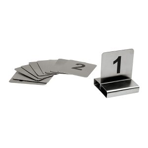 Table Number Set S/Steel Flat 50mmx60mm 31-40-57540