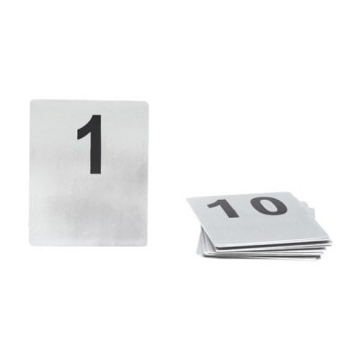 Table Number Set S/Steel Flat 80 x 100mm 41-50-57650