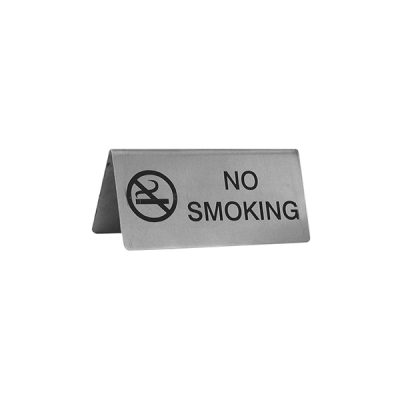 Table Sign A Frame S/Steel No Smoking-57805