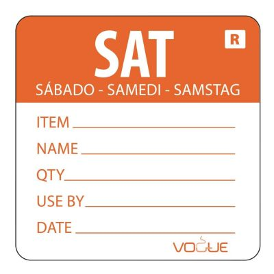 Vogue-Removable-Day-of-the-Week-Label-Saturday-Orange---500-per-Roll-DL071