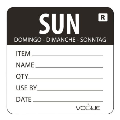 Vogue-Removable-Day-of-the-Week-Label-Sunday-Black---500-per-Roll-DL072