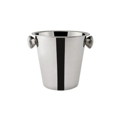 Wine-Bucket-Stainless-Steel-Mirror-Polished-with-Knobs-200mmH-x-205mmD-70894