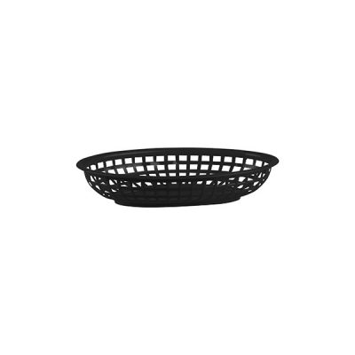 Bread-Basket-Oval-Polypropylene-Black-240x150x50mm