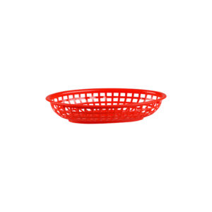 Bread-Basket-Oval-Polypropylene-Red-240x150x50mm