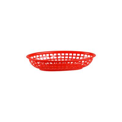 Bread-Basket-Oval-Polypropylene-Red-240x150x50mm